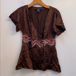 Max edition brown blouse